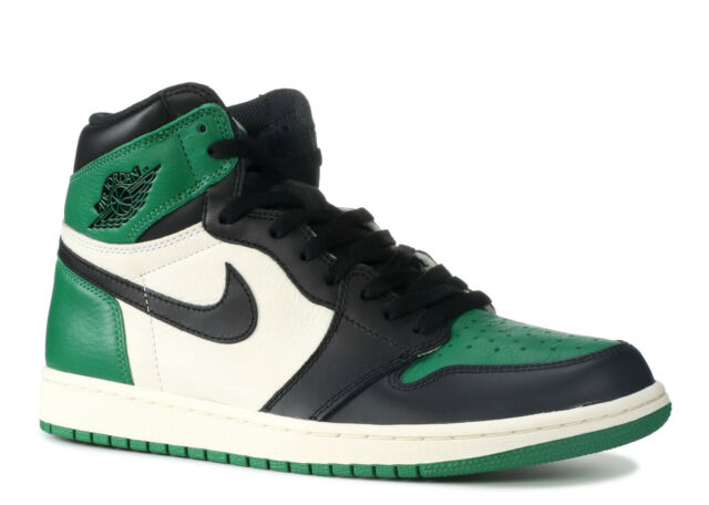 2d7d2f0e5320 2018 Nike Air Jordan 1 Retro High OG Pine Green Sail Black Sz 9.5 ...