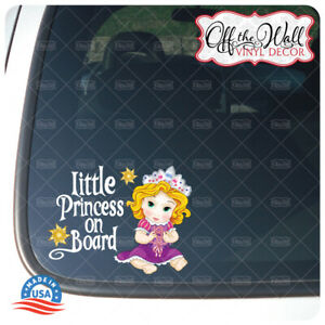 Baby-Rapunzel-034-BABY-OR-LITTLE-PRINCESS-ON-BOARD-034-Awareness-Sign