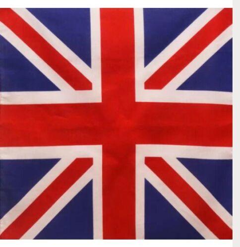 English British Empire Union Jack Flag Style 100/% Cotton 55x55cm Bandana