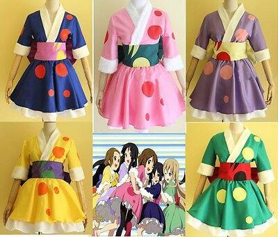 K-on Concert New Yukata Kimono Printing 5 colors Cosplay Costume