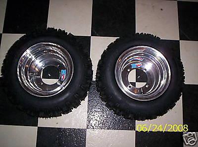 Douglas wheels snow hog tires DRR Cobra Apex mini quad