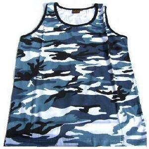 Urban-Or-Midnight-Camo-Vest-NEW-100-cotton-Army-Style
