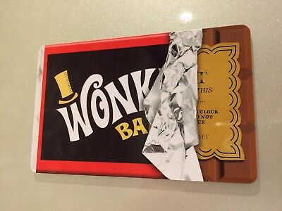 Willy Wonka Bar Golden Ticket Fridge Magnet Chocolate Bar Retro Cool Gift Ebay