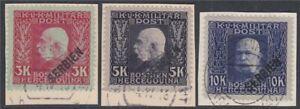 Autriche Hongroise Militaire Serbie Nº 40-42 Lettre Morceaux-afficher Le Titre D'origine Produits De Qualité Selon La Qualité