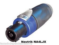 "NEUTRIK NA4LJX 1/4"" TO SPEAKON NL4MP ADAPTER Ships Free to US Zip Codes"