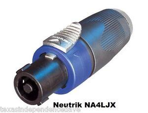 NEUTRIK-NA4LJX-1-4-034-TO-SPEAKON-NL4MP-ADAPTER-Ships-Free-to-US-Zip-Codes