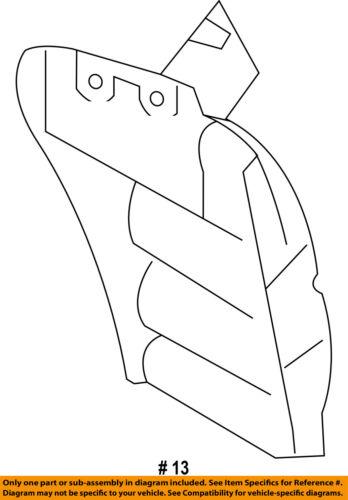 MITSUBISHI OEM Outlander Sport Rear Fender-Liner Splash Shield Left 5370B333