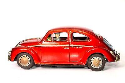 Blechspielzeug Spielzeug Vintage Batteriebetrieben 597ms Volkswagen Käfer 2-door Limousine Mit Fahrer Waren Jeder Beschreibung Sind VerfüGbar
