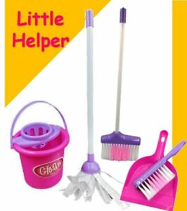 Kids-Cleaning-Role-Play-Set-Childrens-Toy-Kitchen-Helper-Dustpan-Sweeping-Brush