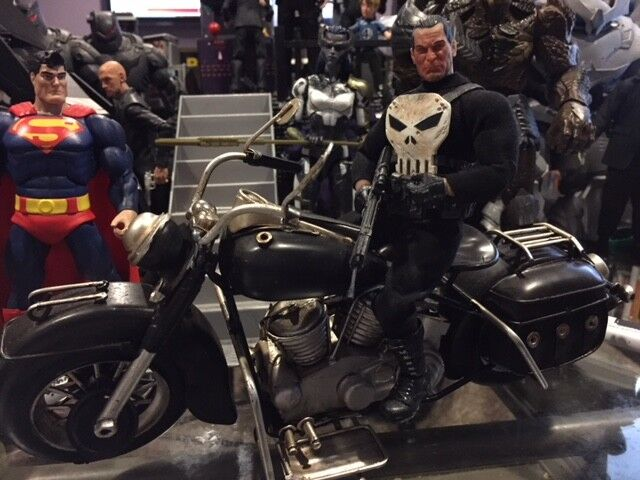 ONE 12 PUNISHER Motorcycle per 6 o 7 pollici azione cifra MOTO IN SCALA 112