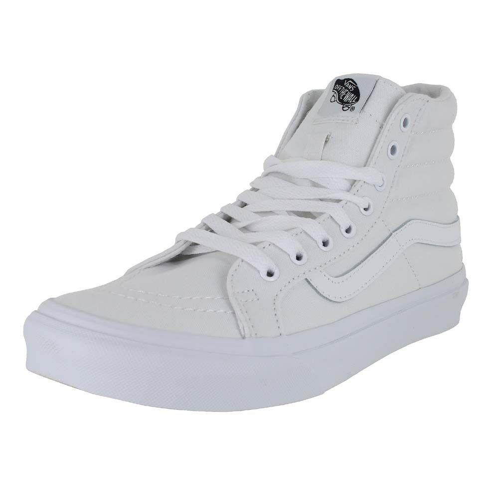 VANS U SK8 HI SLIM TRUE WHITE CANVAS MENS US SIZES