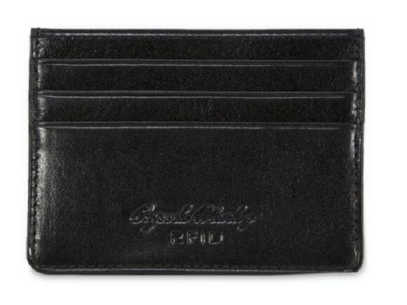 Osgoode Marley Sienna Leather RFID Blocking Gusset Card Case 1112 Black