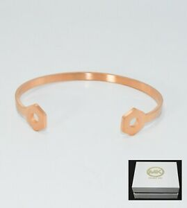 "CZ Bracelet with Box MK WOMEN 7/"" Stainless Steel GOLD BLACK ET Bangle CUFF"