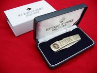 Bsa Eagle Scout Pocket Knife With Case Lockback Stainless Steel Custom Engraved