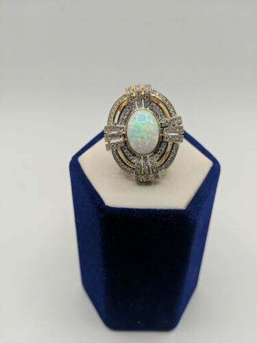 ANTIQUE VICTORIAN FIRE OPAL 14 KT LADYS RING