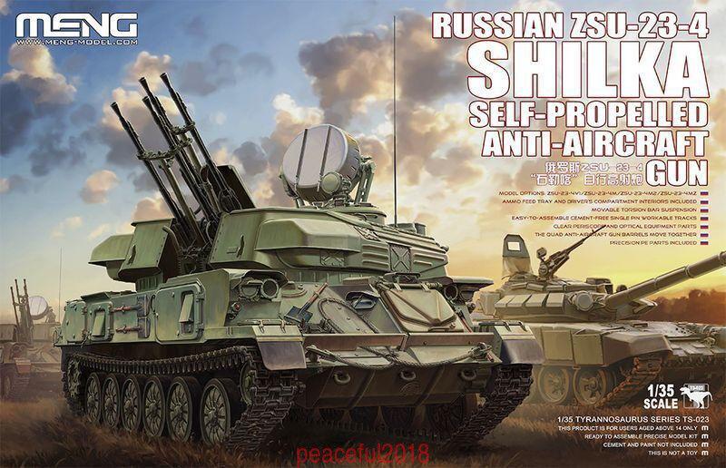 Meng Model 1 35 TS-023 Russian ZSU-23-4 Shilka Self-Propelled Anti-Aircraft Gun