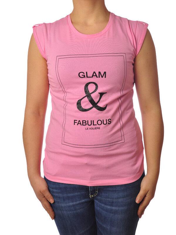 Le Voliere - Topwear-T-shirts - Woman - Rosa - 5195917F184217