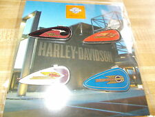 NEW 4 HOG/ HARLEY DAVIDSON MUSEUM GAS TANK DESIGN HARLEY PIN'S MINT ON CARD!