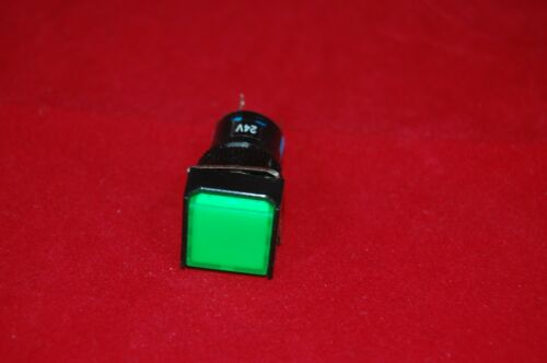 2PCS 16MM Green Square Momentary PUSH BUTTON ILLUMINATED 12V AC//DC 5 PINS