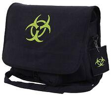 Black Canvas Bio-Hazard Messenger Bag - Rothco Zombie Fighter Shoulder Bags