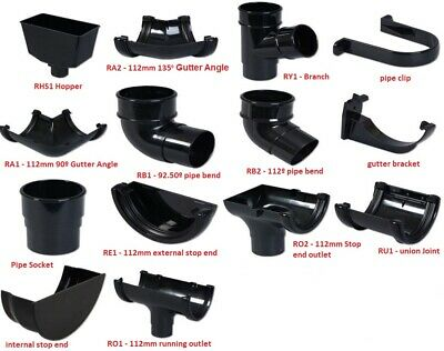 Clip Pack of 5 Round Floplast Brand Fits 112mm Half Round RK1 Gutter Bracket