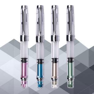 2018-Wing-Sung-3008-Silver-Clip-Piston-Fountain-Pen-Extra-Fine-EF-Nib-0-38-0-5mm