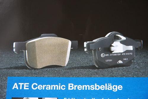 A5 Sportback vorne neu ATE Ceramic Bremsbeläge mit Warnkontakt AUDI A5