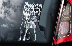 Rhodesian-Ridgeback-a-Bordo-Coche-Ventana-Pegatina-Perro-Signo-Regalo-Idea