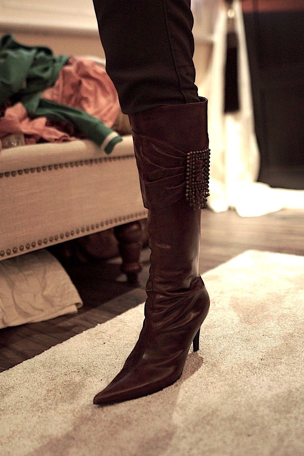 Moda In Pelle marron bottes