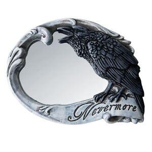 Alchemy-Gothic-Nevermore-The-Raven-Edgar-Allan-Poe-Compact-Hand-Mirror