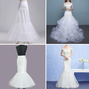 fd0e145659f1 Image is loading Wedding-Dress-Petticoat-Crinoline-A-line-Fishtail-Mermaid-
