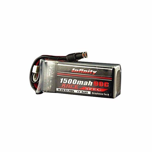AHTECH Infinity 1500mah 14.8V 90C 4S1P Race Spec Lipo Lipo Lipo Battery for RC Drone 53277d