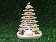 MUM FESTIVE CHRISTMAS TREE, GRAVE MEMORIAL ORNAMENT, CEMETERY TRIBUTE GIFT