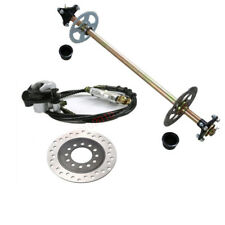 Rear Axle Hub Rear Hydraulic Brake Master Cylinder + Rotor Disc Go Kart Cart Kit
