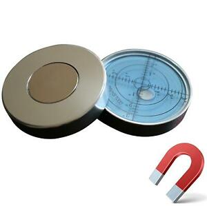 Magnetische-Dosenlibelle-Grosse-Metall-Wasserwaage-mit-Luftblase-Blau-Silber
