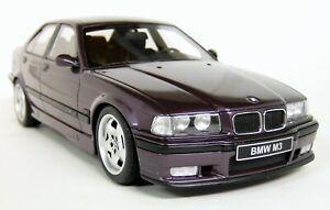 Otto-Models-1-18-Scale-BMW-M3-Sedan-E36-95-98-Techno-Violet-Resin-Model-Car