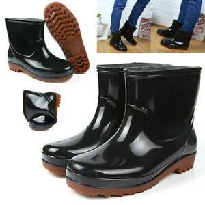 Mens Women Rain Ankle Wellies
