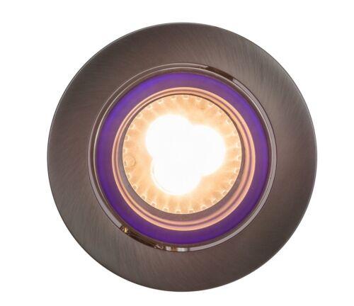 5W LED Einbaustrahler Glas Blau Set 230V Deckenspot Einbaulampe Einbau Rahmen