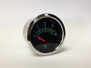 Marshall-C2-60s-Oil-Pressure-Gauge-Stainless-Bezel-2933SS