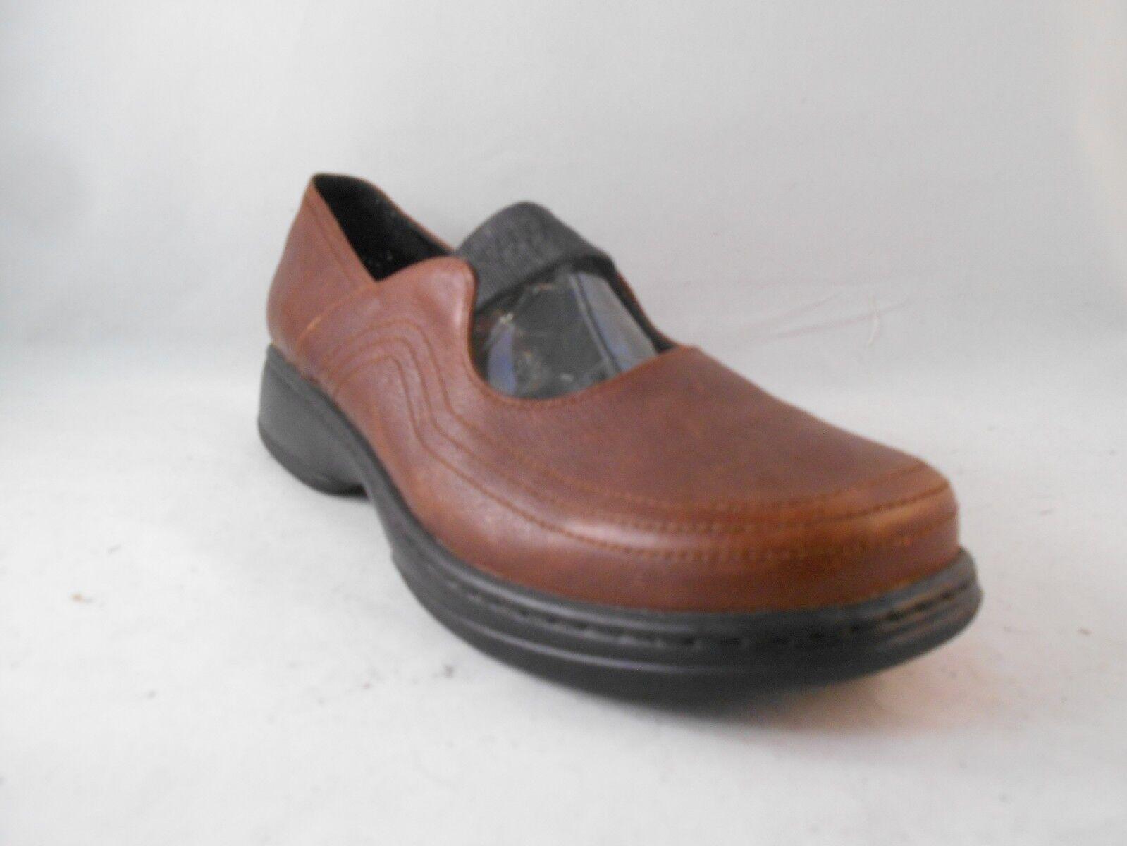 Dansko Marroneee Leather Mary Janes w  Elastic Clogs Wmn's Sz 11.5 - 12 ; 42 EUR