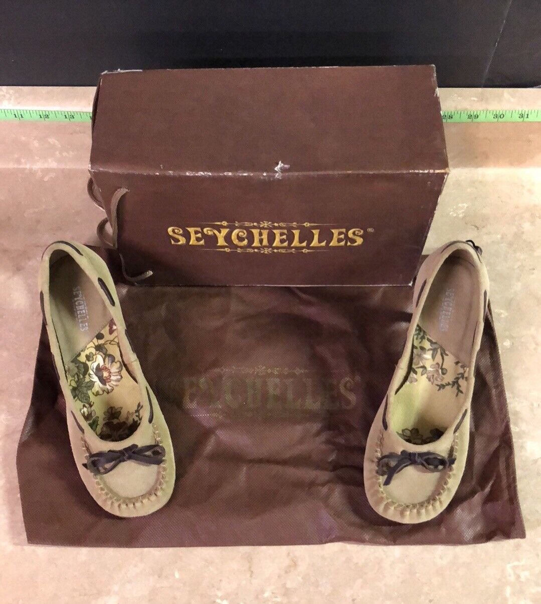 """Seychelles Squabble Oatmeal Suede Loafer - 2.5"""" Heel - - Größe 7 - EUC - Heel  8995 4161e8"""