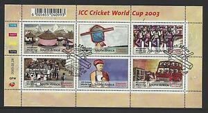 SOUTH-AFRICA-2003-ICC-CRICKET-WORLD-CUP-SHEET-of-6-FINE-USED-CTO