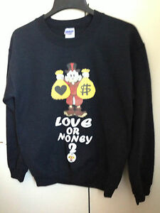 433b6a7d021 Image is loading LOVE-OR-MONEY-DONALD-DUCK-UNISEX-Sweatshirt-Sweater-