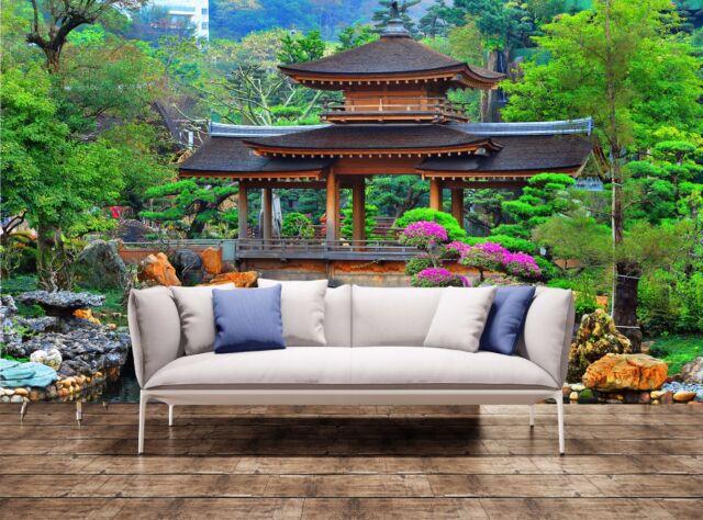 Pagoda in Chinese Zen Garden Giant Photo Wallpaper Wall Mural ...