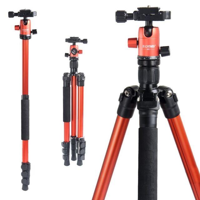 """ZOMEI 62.5"""" Pro Tripod Monopod Travel Camera Aluminum Ball Head for SLR Camera"""