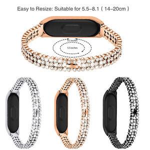 Glitter Strass Cinturino Per Xiaomi Mi Band Miband 4 3 Bracciale In Acciaio Inox Ebay