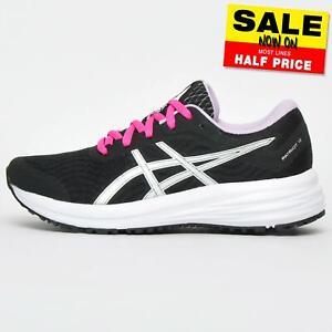 ASICS-PATRIOT-12-Femmes-Chaussures-De-Course-Fitness-Gym-Entrainement-Baskets-Noir