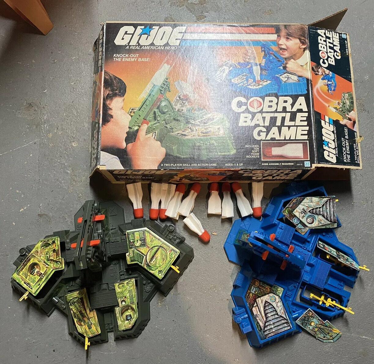 Vintage De Gi Joe Cobra batalla juego 1982 con Caja Completa