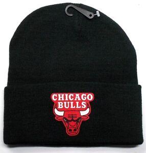 READ-LISTING-Chicago-Bulls-HEAT-Applied-Flat-Logo-on-Beanie-Knit-Cap-hat