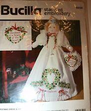 Bucilla Stamped Cross Stitch//Embroidery Elegant Bride Doll 40751 Vintage 1993
